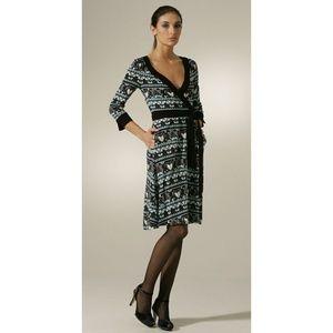 Diane von Furstenberg Biba Band Taurus Wrap Dress